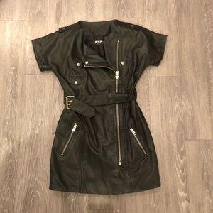 %100 Genuine Leather NastyGal Dress Size S NEW